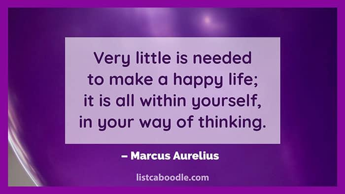 Happy life saying image