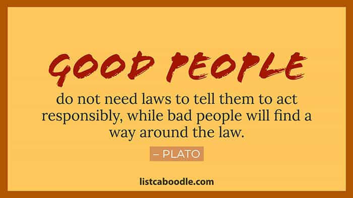 Good people Plato quote image