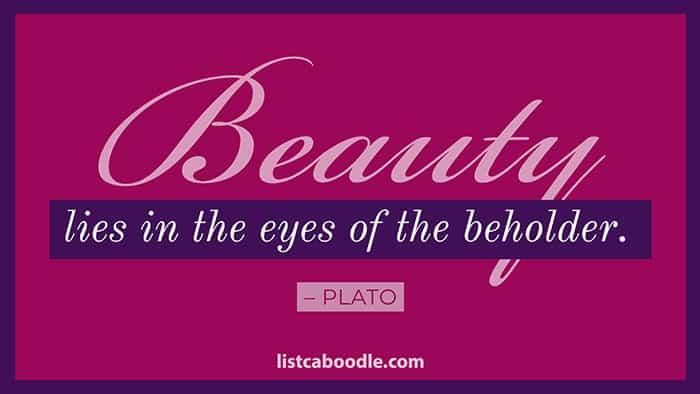 Plato beauty quote image