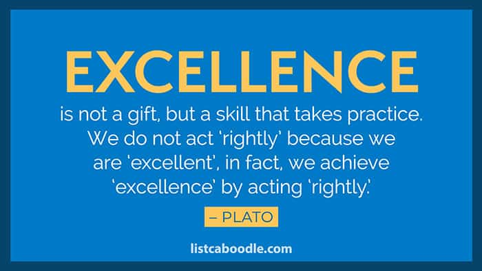 Excellence saying image