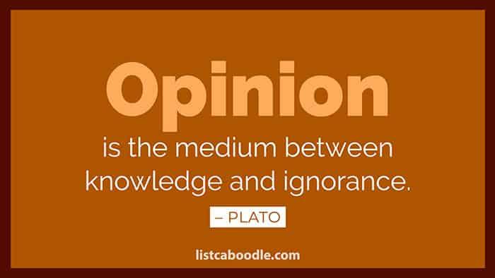Plato opinion saying image