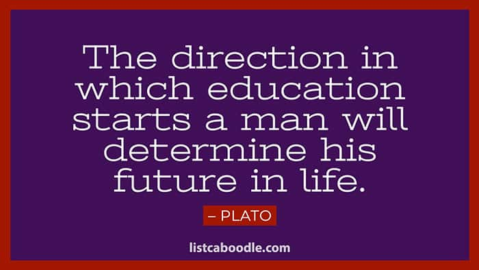 Plato education saying image
