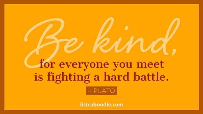 Be kind plato quote image
