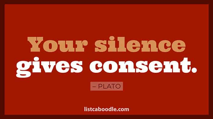 Silence gives consent image
