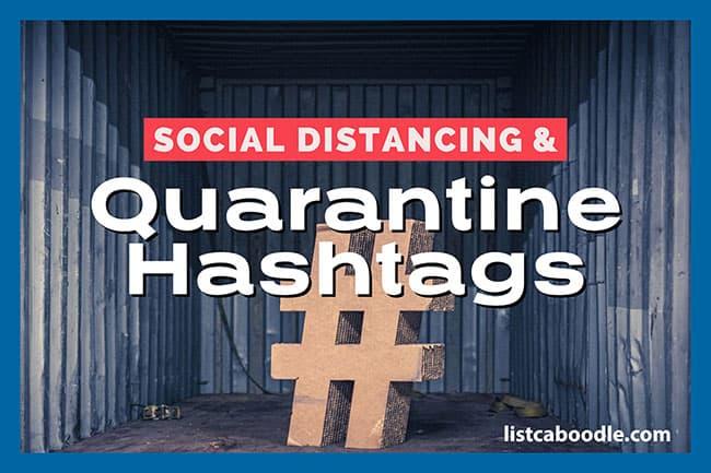 Quarantine hashtags image