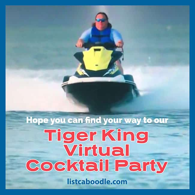 Tiger King party invite image