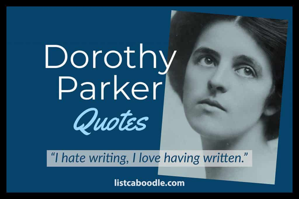 Dorothy Parker quotes image