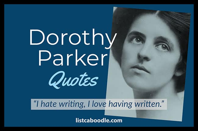 Dorothy Parker quotes main image