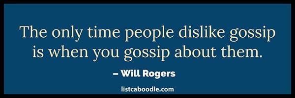 Gossip quote image