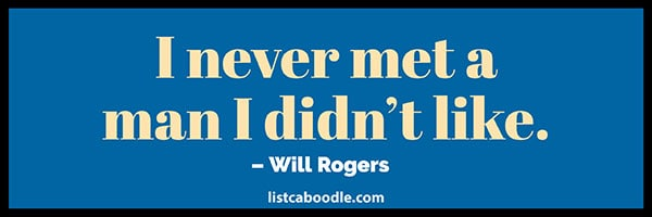 Will Rogers famous quote image