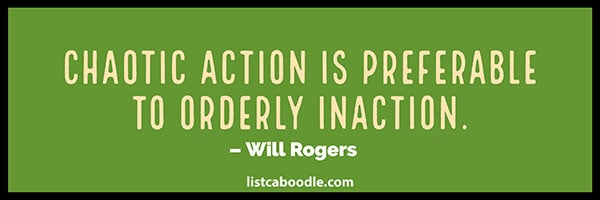 Action inaction quote image