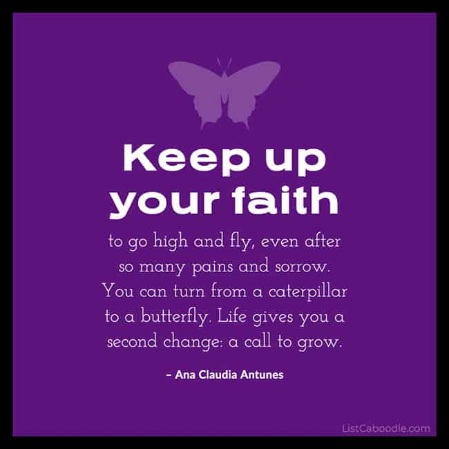Faith butterfly quote image
