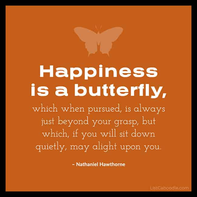 Happiness is a butterfly quote image