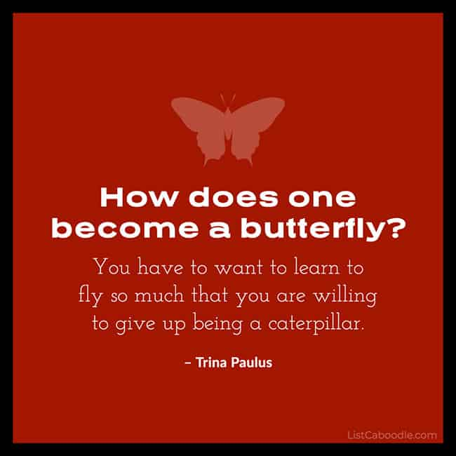 Trina Paulus butterfly quote image