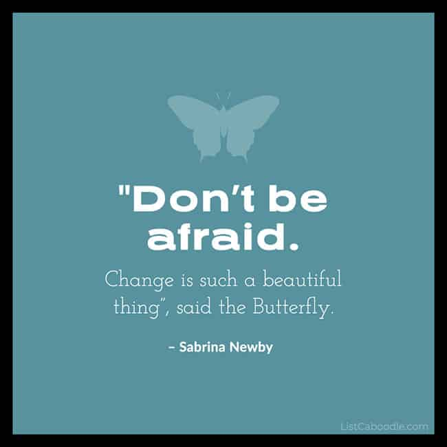 "Sabrina Newby ""Don't be afraid"" quote image"