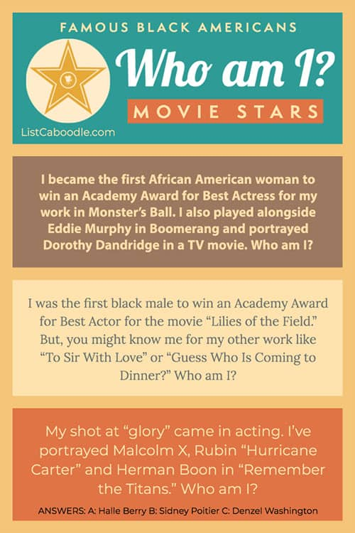 Riddles about African-American entertainers image