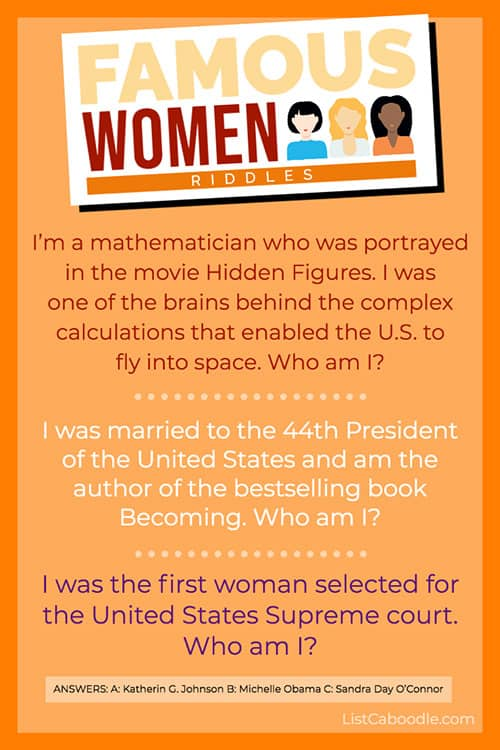 famous women riddles - Michelle Obama image