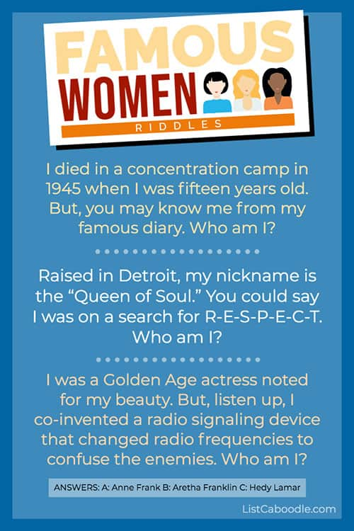 who am I? riddles about women image