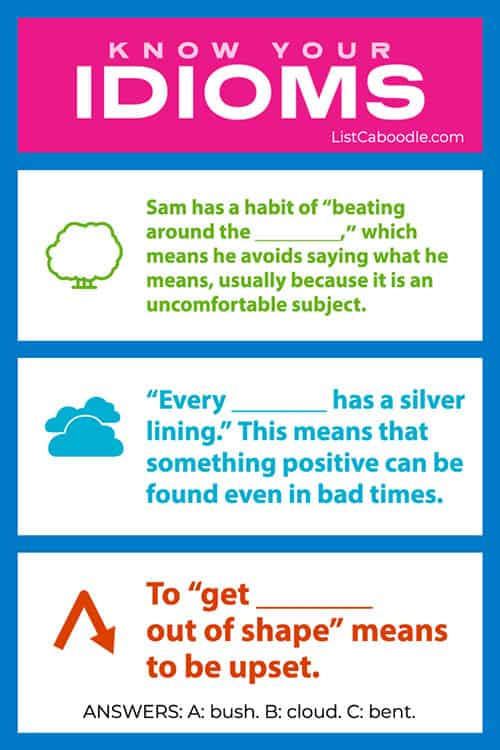 Idiomatic sayings