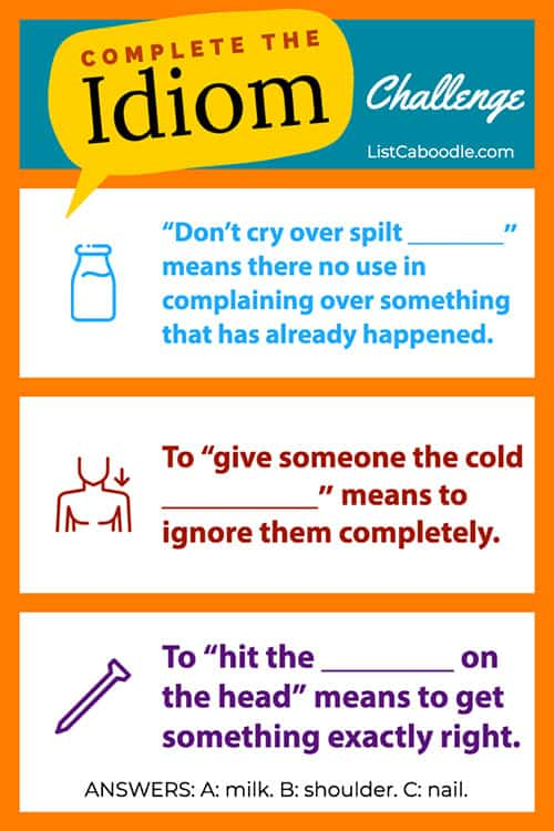 Don't cry over spilt milk and more