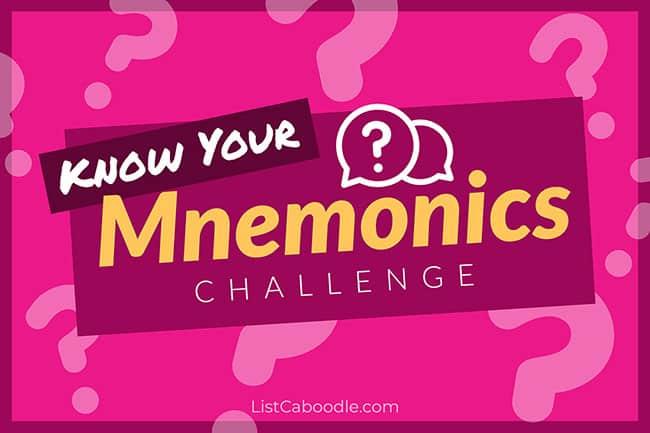 mnemonic device challenge header image
