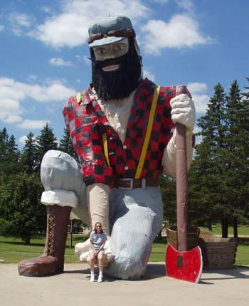 Bunyan statue in Akeley, MN.
