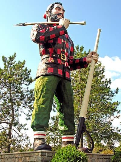Paul Bunyan statue in Bangor, ME.