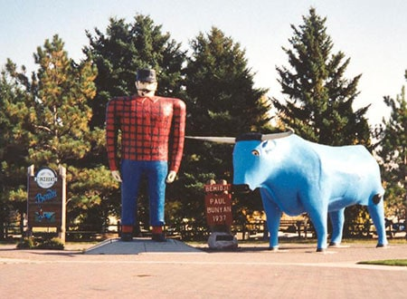 Original statues in Bemidji, MN.