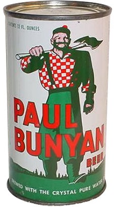 Paul Bunyan beer can.