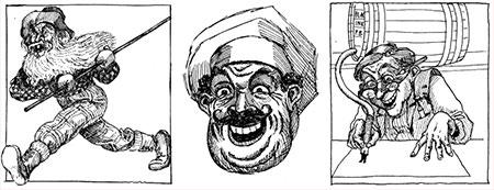 Laughead's original characters