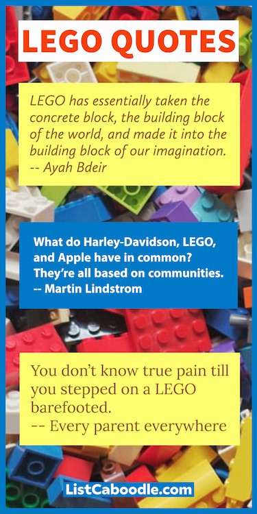 Good LEGO Quotes