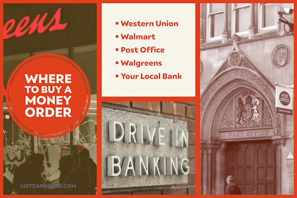 Money orders near me - banks and USPS