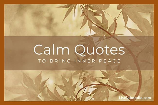 Calm quotes image