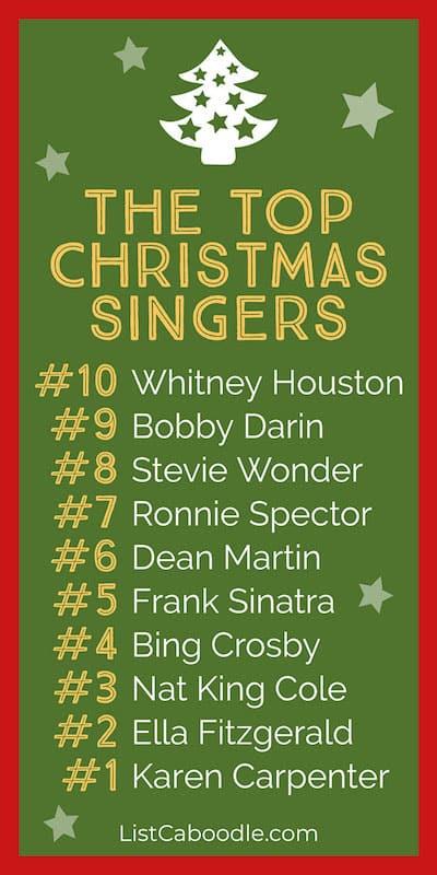 List of best Xmas Singers meme