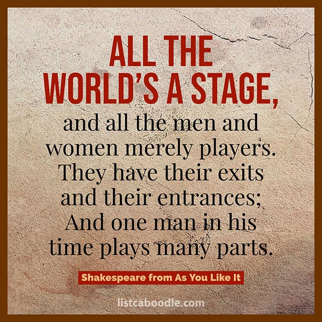 All the world's a stage quote