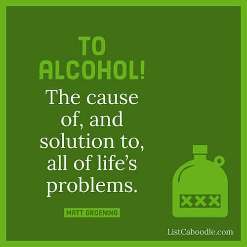 Alcohol quote image