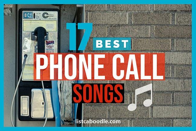 Best phone call songs image