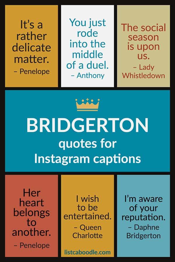 Bridgerton quotes for Instagram