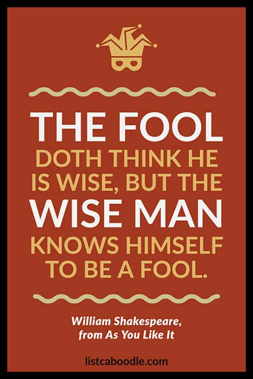 Shakespeare fool quote image