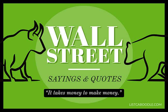 Wall Street sayings image
