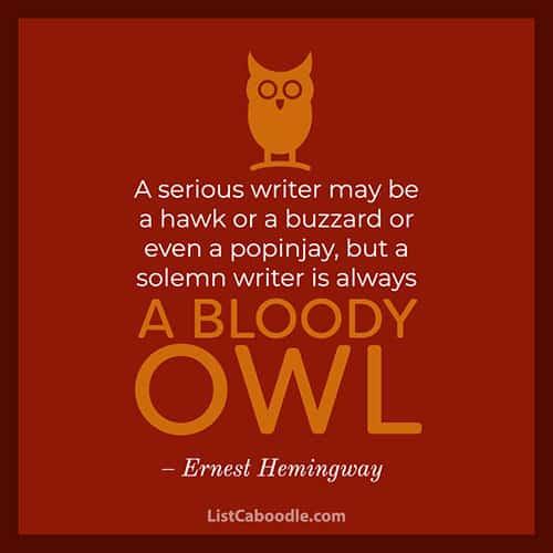 Hemingway owl quote