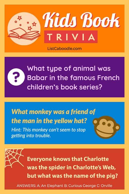 Fun children's books trivia