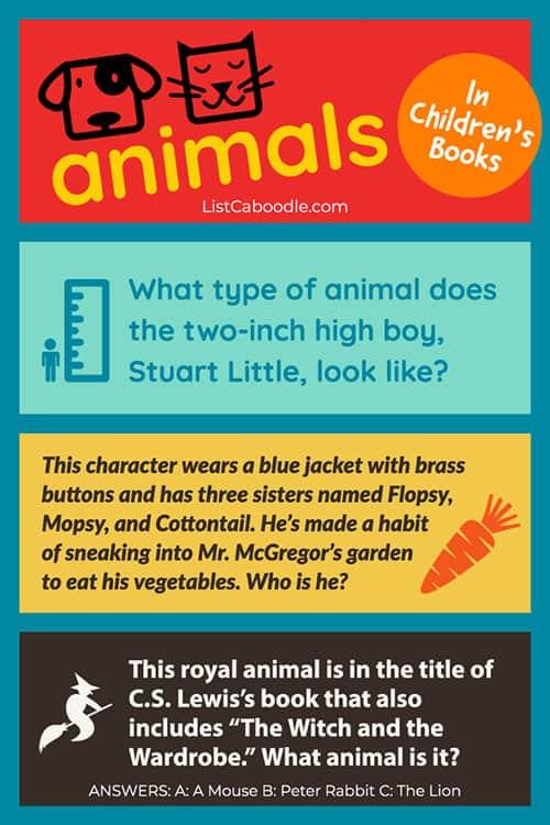 Animals in kids' books quiz