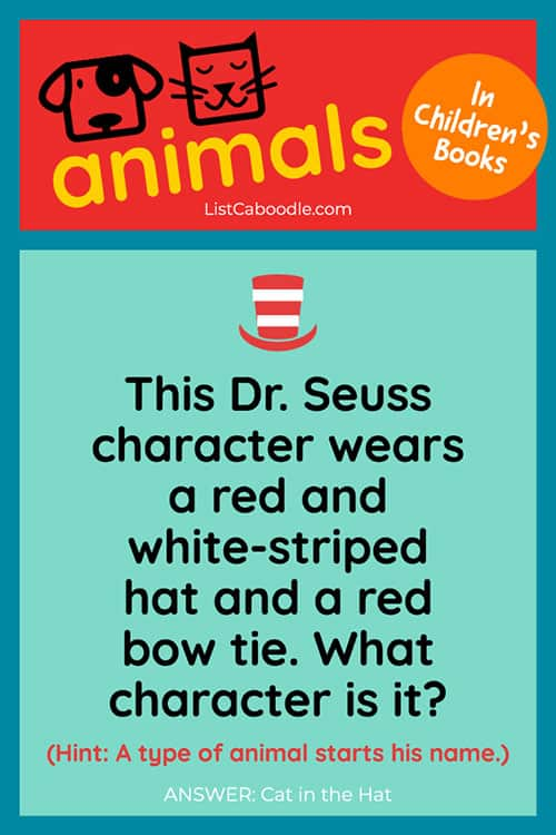 Children's books trivia quiz: Dr Seuss question