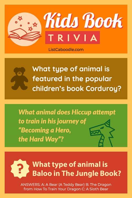 Kids book trivia