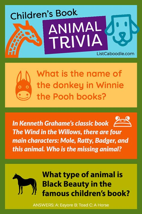 Do you know your children's book animals?