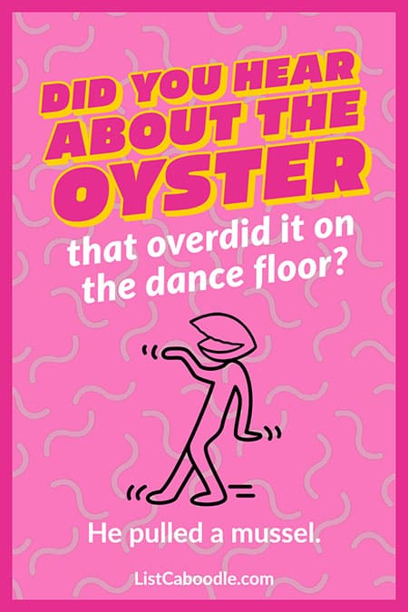 Funny oyster joke image