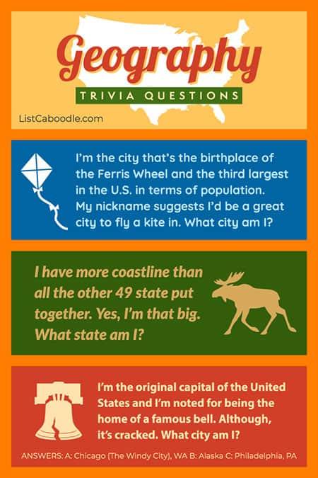 Geography trivia visual