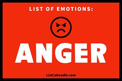 List of emotions: anger