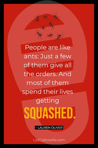 People are like ants quote
